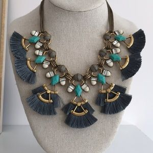Stella & Dot Lotus Tassel Necklace